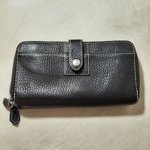 Dooney Alto Large Double Zip Organizer Wallet